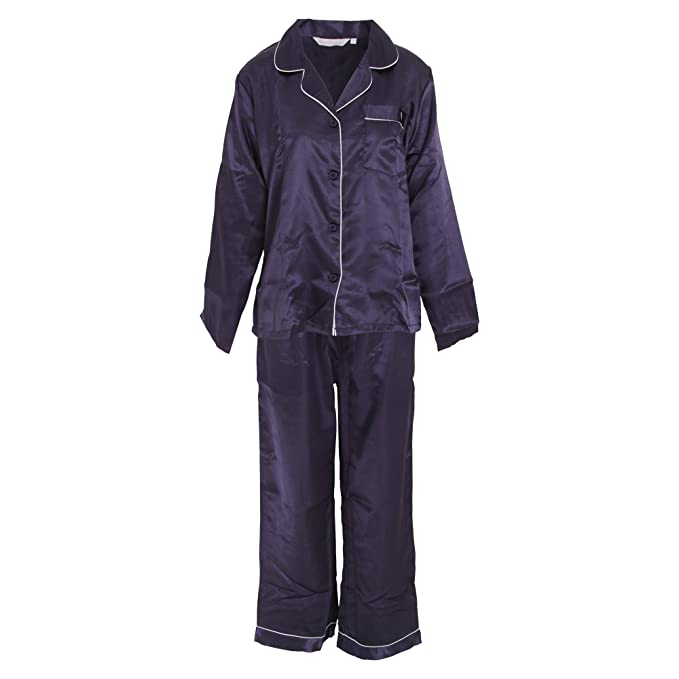 Forever Dreaming - Conjunto de pijama de manga larga de setiné para mujer: Amazon.es: Ropa y accesorios
