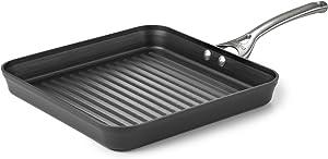 Calphalon Contemporary Hard-Anodized Aluminum Nonstick Cookware, Square Grill Pan, 11-inch, Black