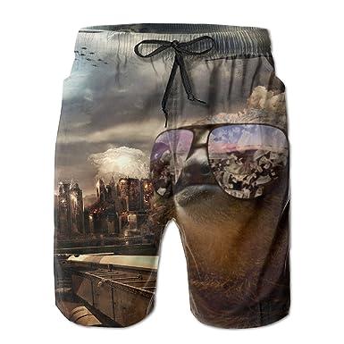 amazon com cool sloth with sunglasses summer swim shorts beach