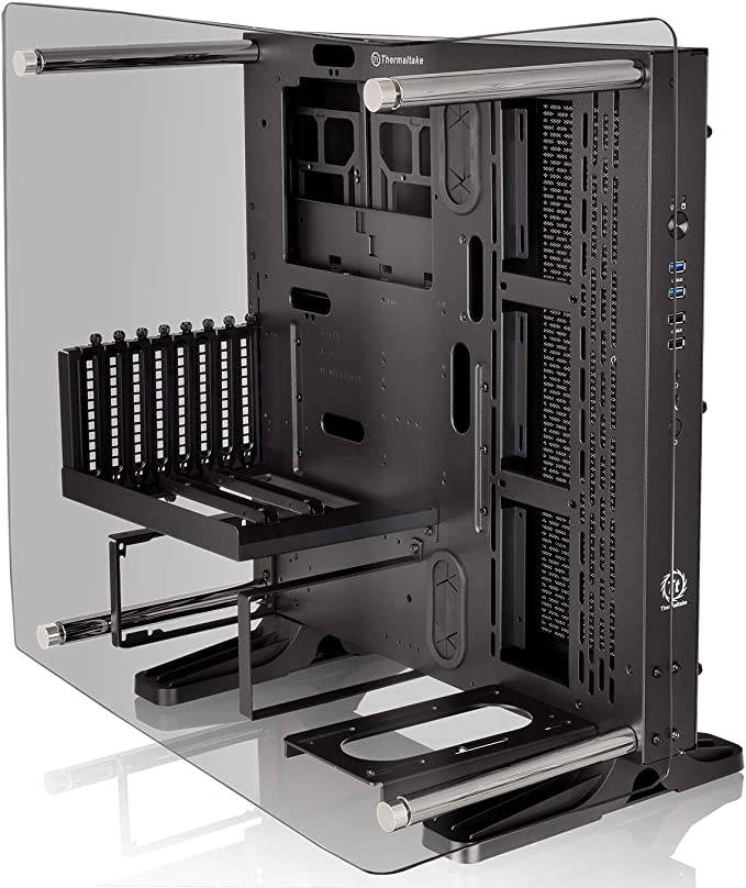 Thermaltake Core P3 Tempered Glass Curved Edition - Torre Mediano (ATX Open-Frame) Color Negro: Amazon.es: Informática
