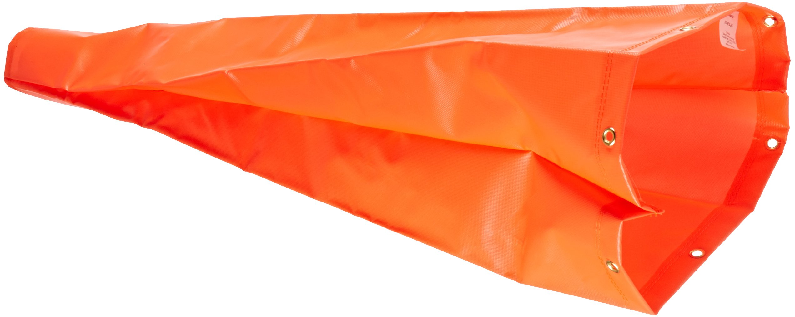 Cortina 03-WS-3 PVC Over Nylon Replacement Windsock, 3' Length x 10'' Width, Orange
