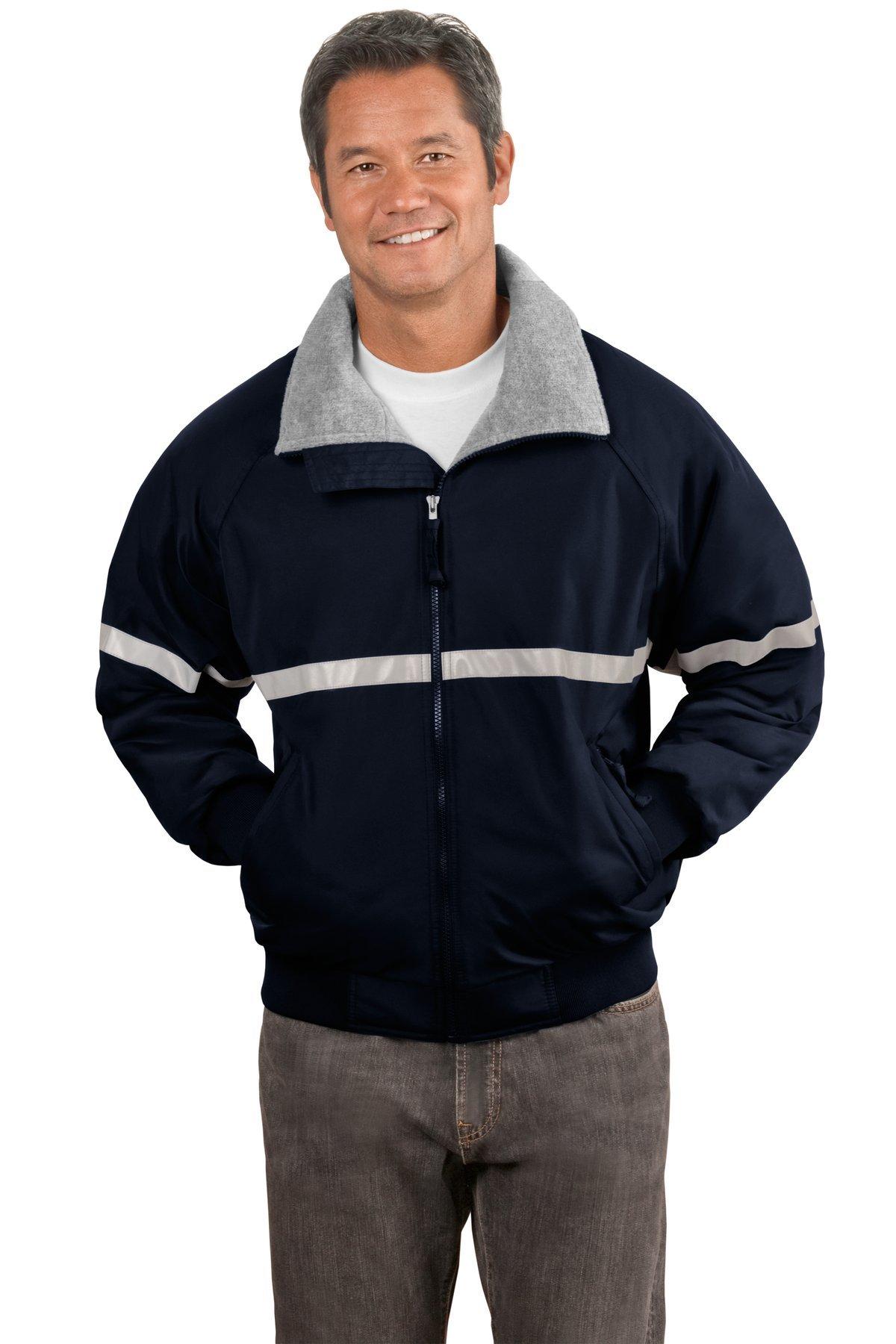 Port Authority Men's Challenger Jacket M True Navy/ Grey Heather/ Reflective