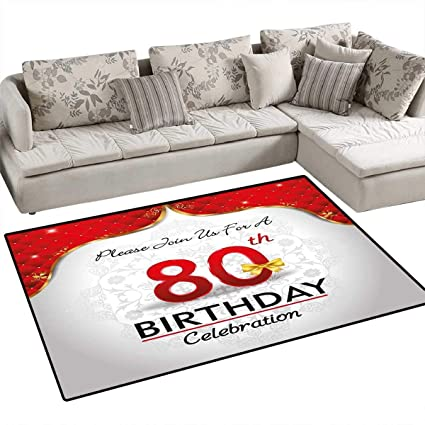 Amazon.com: 80th Birthday Customize Door mats for Home Mat ...