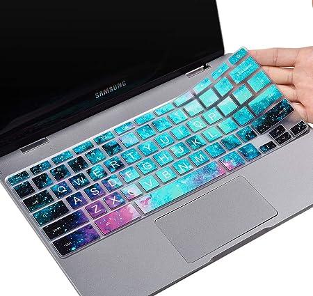 Keyboard Cover for 2019//2018//2017 Samsung Chromebook 4 3 XE310XBA XE500C13 XE501C13 11.6// Chromebook 2 XE500C12// 15.6 Chromebook 4 XE350XBA Gradual Blue Chromebook Plus V2 XE520QAB XE521QAB 12.2