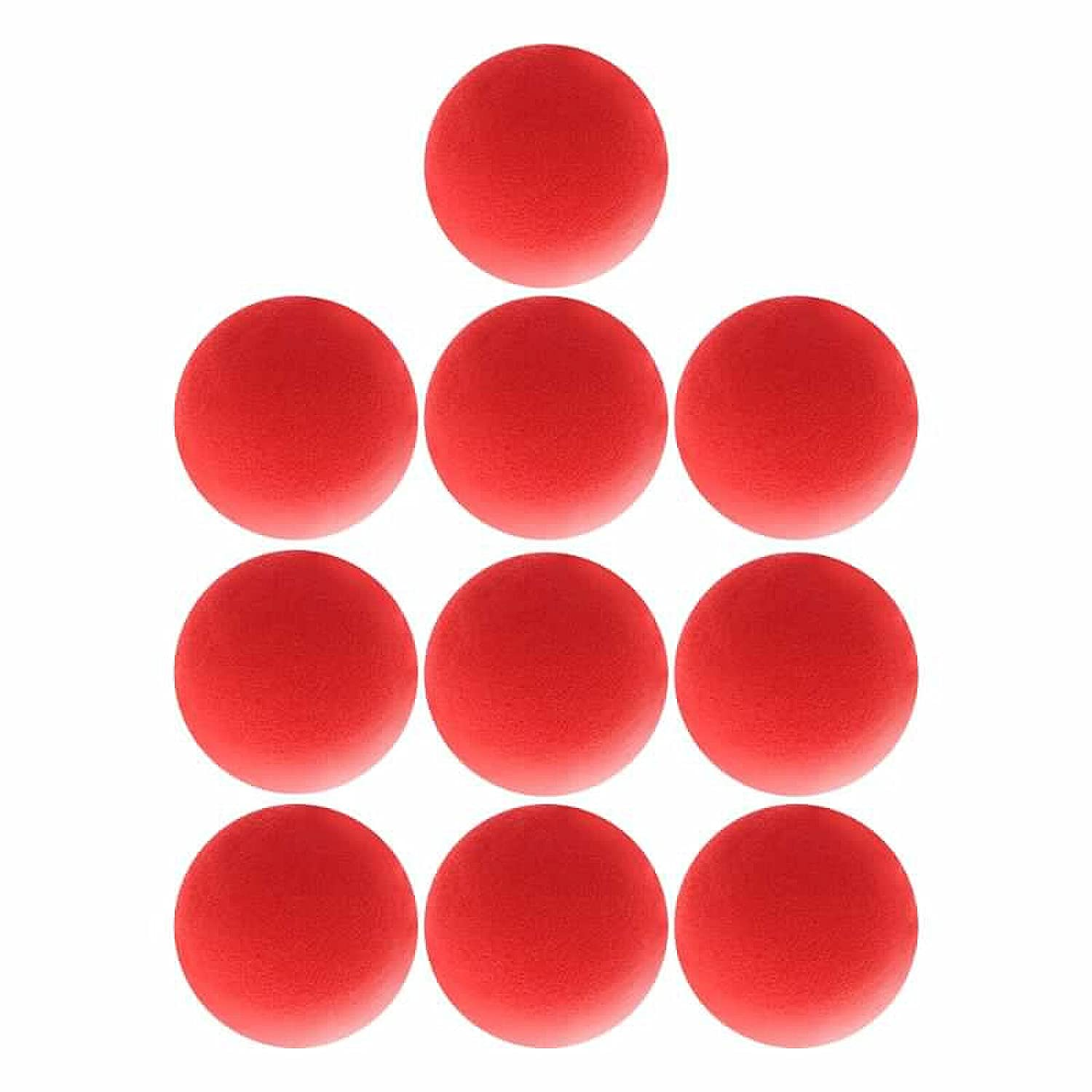 Superior Zrl® Red Sponge Ball close-up Magic Street Classical Comedy trick props 4.5 cm, x10 pcs