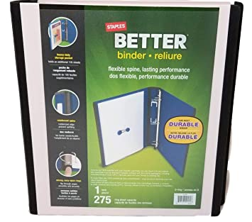 Amazon.com: Staples (TM) Better - Archivador, 1.0 in, 275 ...