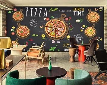 HHCYY 3D Custom Tapete, Pizzeria Restaurant Hintergrund Dekoration ...