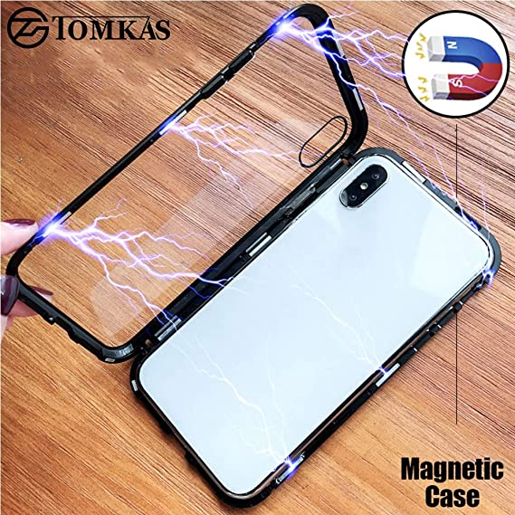 Amazon.com: TOMKAS Magnetic Phone Case for iPhone X 8 7 6 s ...