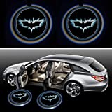 Generic Black Wireless Car Door LED Projector Light (2x Night Cold Blue bat batman car door courtesy welcome logo shadow ghost light laser projector)