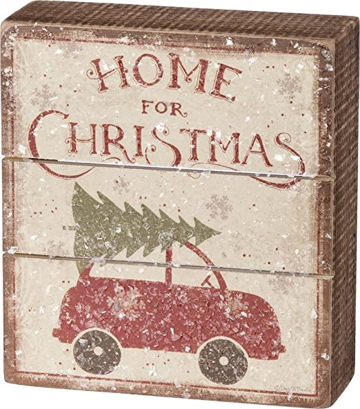 Primitives By Kathy I Am Freaking Merry Box Sign Funny Christmas Wall Desk Decor