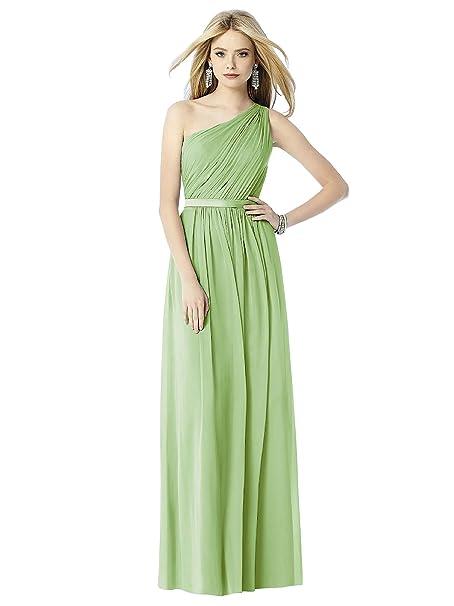 830fdfc7be90 Nuovo design Sdj uno chiffon spalla increspato lungo damigella d  onore  sera vestito da festa
