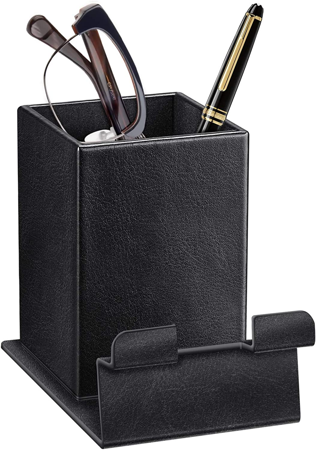 PU Leather/Glasses Stand Case Rose Gold Fintie Plush Lined Eyeglasses Holder with Magnetic Base