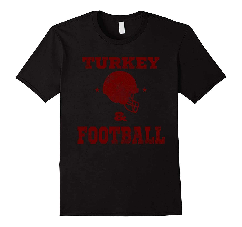 Thanksgiving Football Shirt - Turkey and Football Red-ANZ