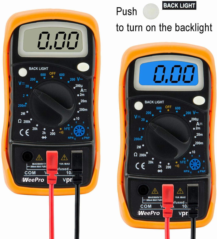DIGITAL MULTI TESTER Electrical DC AC Ohm Volt Amp Testing Precision Multimeter