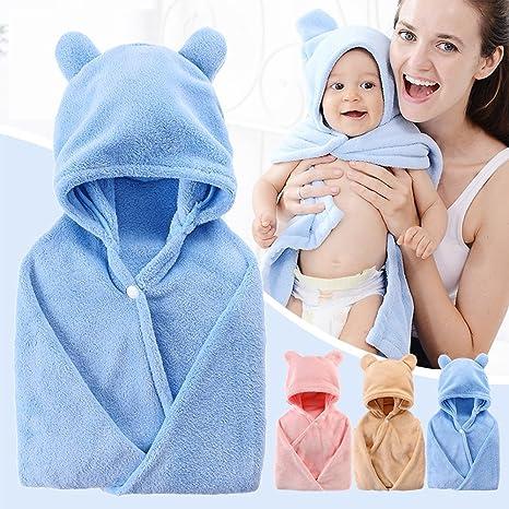 Micro Spun Baby de toalla, Baby Toalla con capucha Albornoz infantil ...
