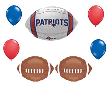 9c366012 Amazon.com: New England Patriots 7 Piece Balloon Bouquet Football ...