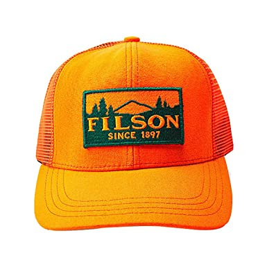 82f63b5c7251f3 Filson Unisex Logger Mesh Cap Blaze Orange One Size at Amazon Men's  Clothing store:
