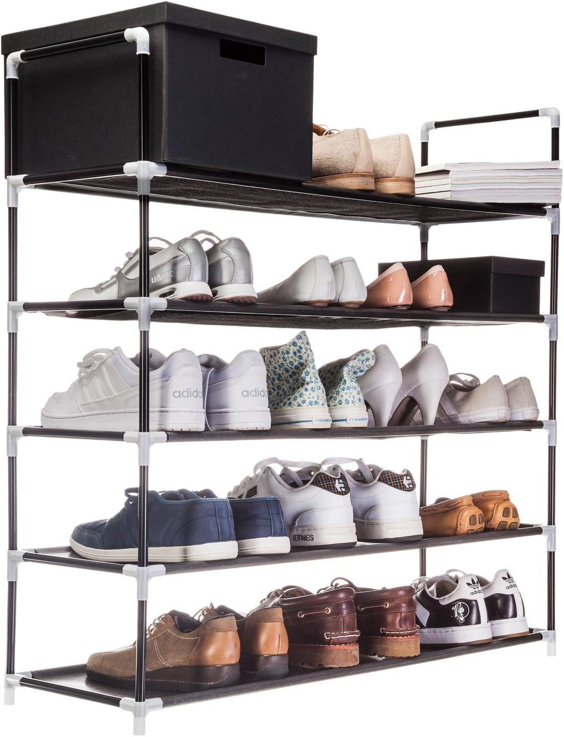 Goods//&/Gadgets /Étag/ère /à chaussures XXL avec 5//étag/ères pour 25/paires de chaussures 91/x/88/x/30/cm