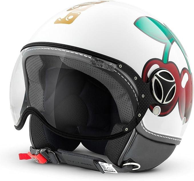 Pacha Momo Ibiza Motorradhelm Offizielles Logo Kirschen Unisex Xs Sport Freizeit