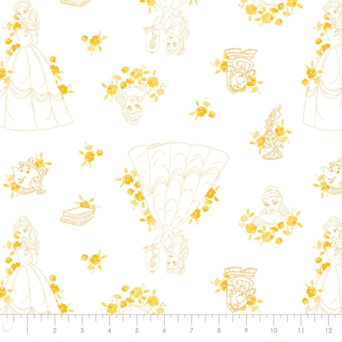 Fabric by the yard Disney Licensed Fabric Disney: Dark Gray Bambi and Butterfly Toile by Camelot 100/% Cotton