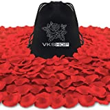 VKShop 4500 Pack Red Rose Petals,Artificial Roses Flower Petals for Romantic Night,Valentine's Day and Weddings