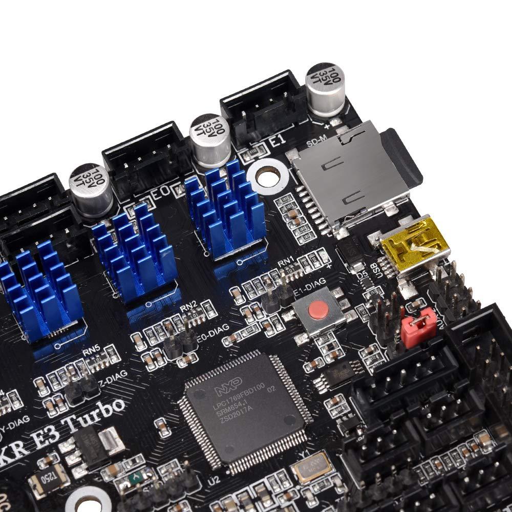 BIGTREETECH SKR E3 Turbo 32bit Controller Board integriert mit TMC2209 Treibern 3D Zubeh/ör Unterst/ützung TFT35//TFT70//TFT35 E3 V3.0 Touchscreen-Display f/ür Ender 3 Firmware Installation f/ür Ender 3