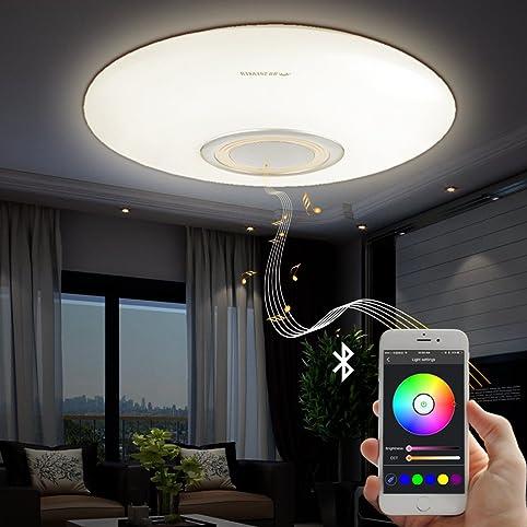 led music ceiling light with bluetooth speaker 25w modern light