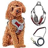 Dog Harness and Leash Set, ZAHRVIA Dog Harness Medium No-Pull Breathable Soft Mesh Puppy Vest Harness Reflective Adjustable P