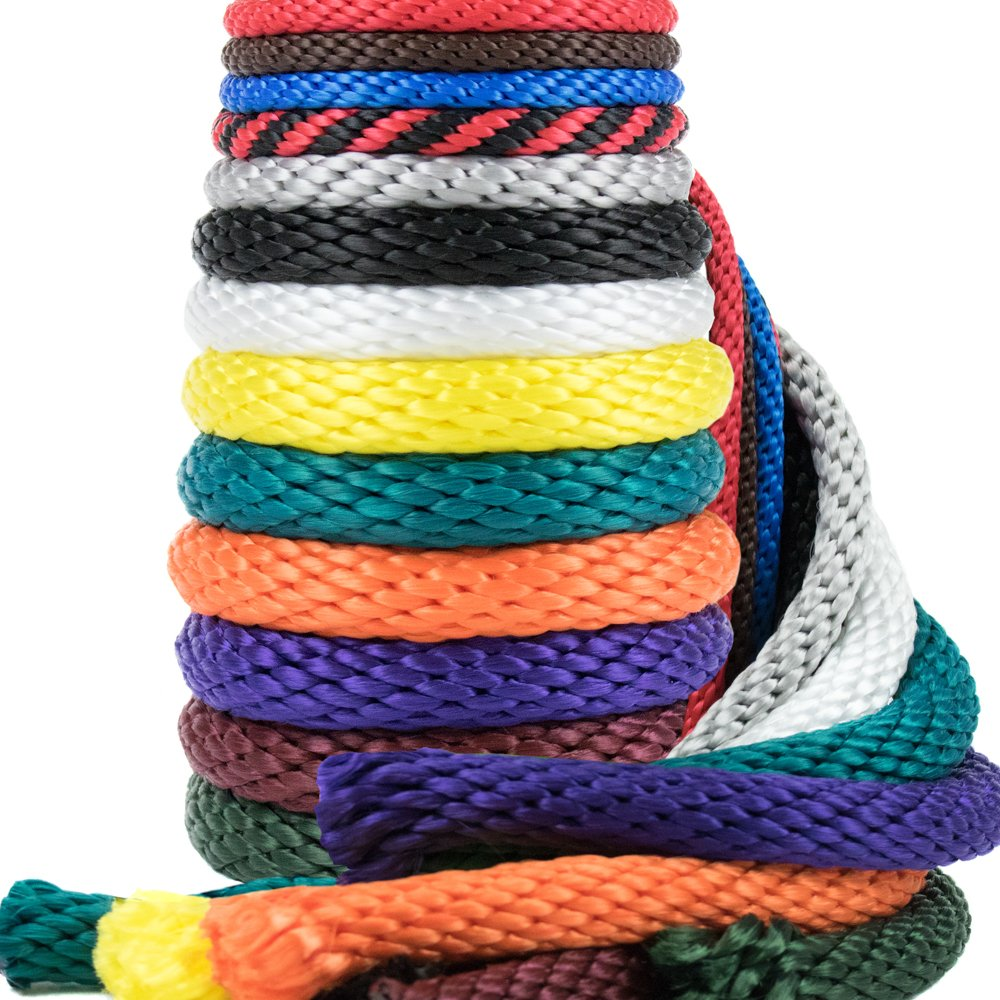 Golberg Rope 1/4-Inch 3/8-Inch 1/2-Inch 5/8-Inch 5/16 - Inch Solid Braid Utility Rope Made in USA - Multifilament Polypropylene MFP Derby Rope Boating Rope - Mildew Resistant - 13 Colors and Lengths by GOLBERG G