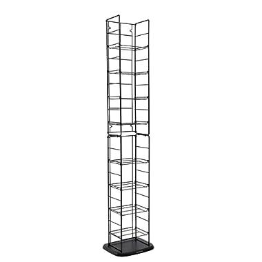 Atlantic Adjustable Wire Media Rack - Heavy Gauge Steel, Holds 153CDs 05 72 DVDs, 8 Adjustable Shelves PN78205091