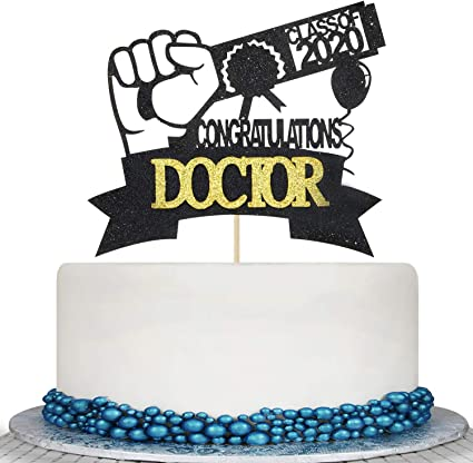Miraculous Amazon Com 2020 Graduation Doctor Cake Topper Medical Science Personalised Birthday Cards Akebfashionlily Jamesorg