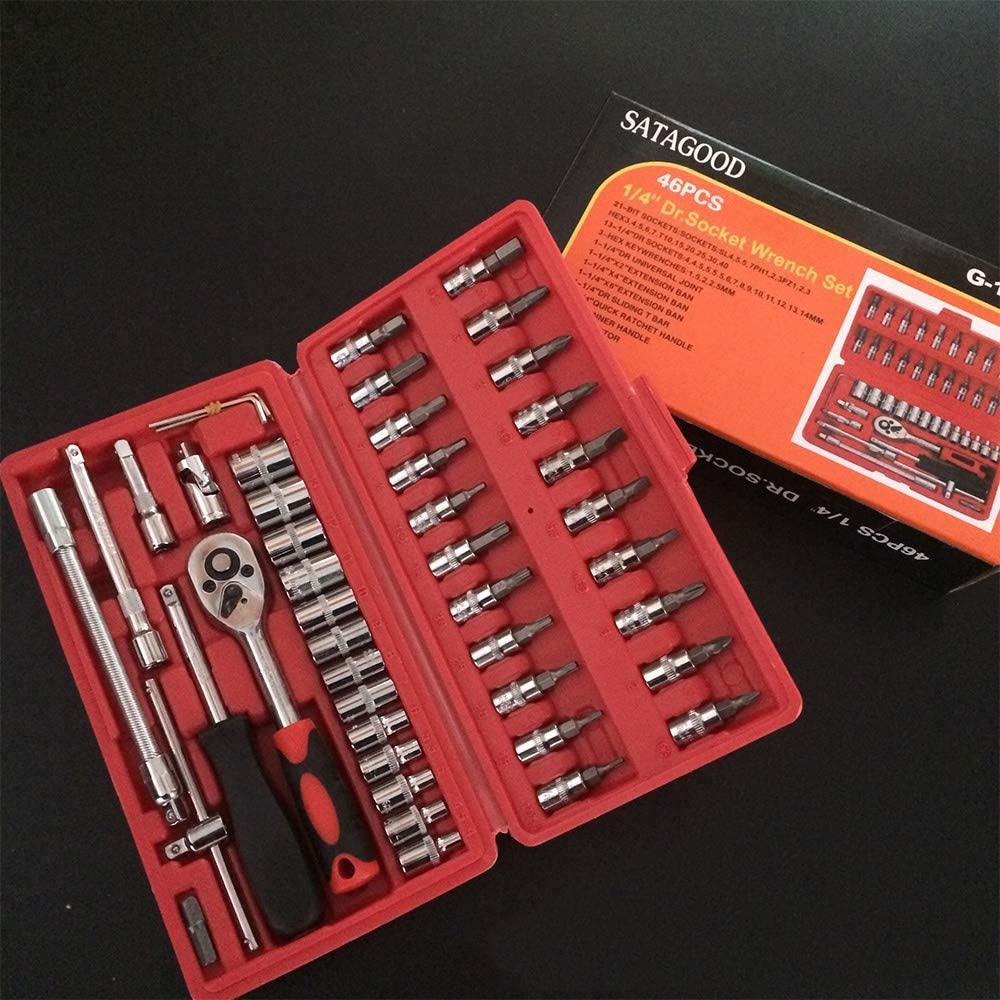 Color : C Multi-function wrench Hand Tool Sets Car Repair Socket Wrench Key Ratchet Wrenchs Screwdriver Key Set Tools Garage Tools For Home Torque Wrench Wrench set