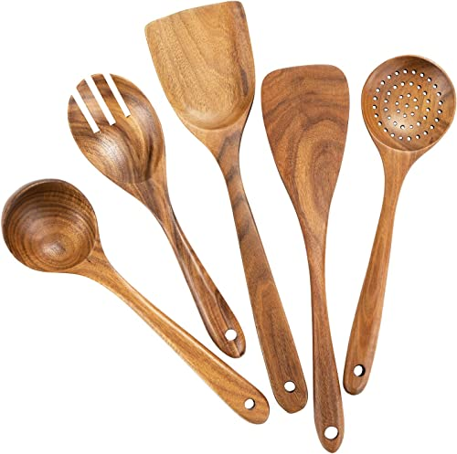 Mondayou Teak Wooden Cooking Utensils