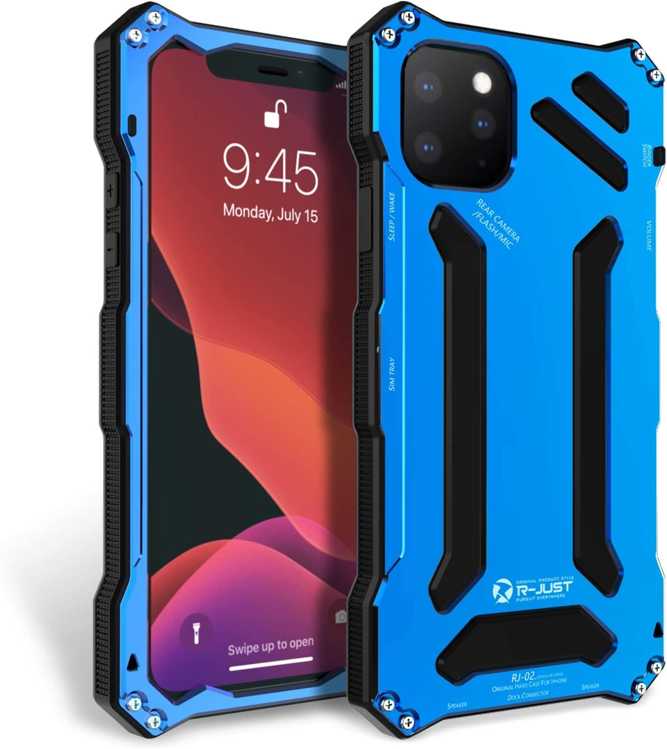 Amazon Com Bpowe Iphone 11 Pro Max Case Gundam Aluminum Metal Premium Protection Hard Shockproof Military Bumper Heavy Duty Sturdy Protective Cover Case For Iphone 11 Pro Max Blue Iphone 11 Pro Max 6 5