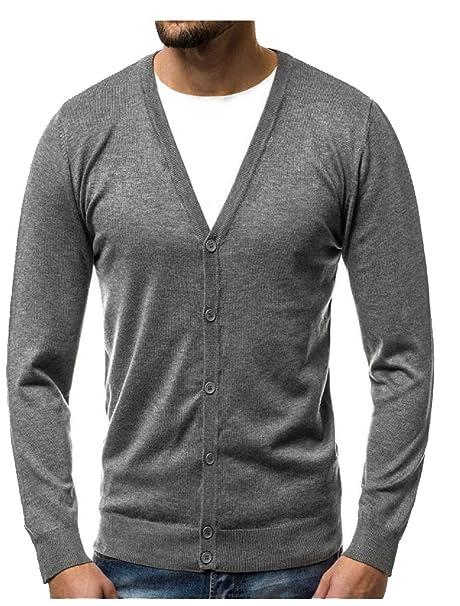 besserer Preis für Beamten wählen begehrte Auswahl an Glücklicher Käufer Herren Strickjacke Cardigan V-Ausschnitt Und Knopfleiste  Aus Mens Pullover Winter Kleidung