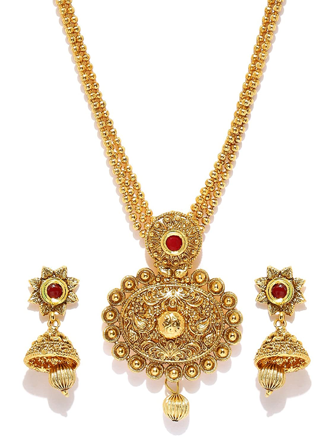 meenakari gold details sets set earrings indian pendant