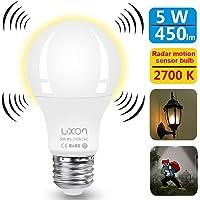 LUXON 5W Motion Sensor 2700K 450 Lumens Smart Light Bulb (White)
