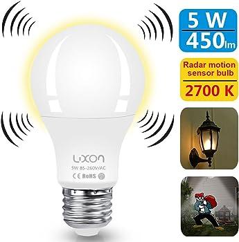 LUXON 5W Motion Sensor Light Bulb