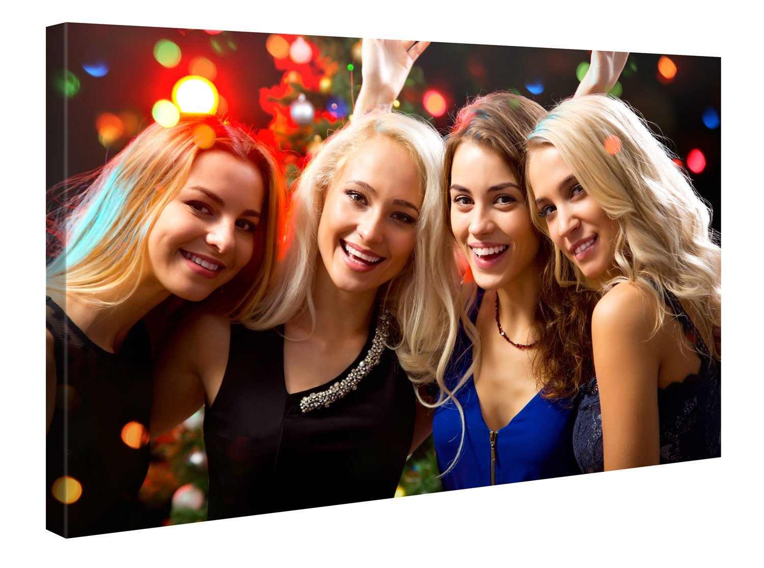 """Custom Canvas Prints With Your Photos 60""""x40"""" - Customize With Your Own Picture and/or Text - 0.75"""" Wooden Frame - Personalized Photo To Canvas Print Wall Art (Additional Sizes Available)"""