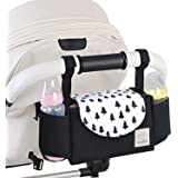 Baby Stroller Organizer with Cup Holders and Diaper Bag, Stroller Accessories Organizer Bag,Baby Stroller Hanging Bag…