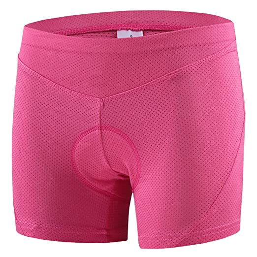 5287a66eb464 voofly Bike Underwear Women,Gel 3D Padded Bicycle Pants Cycling Shorts  Underpants Pink Small