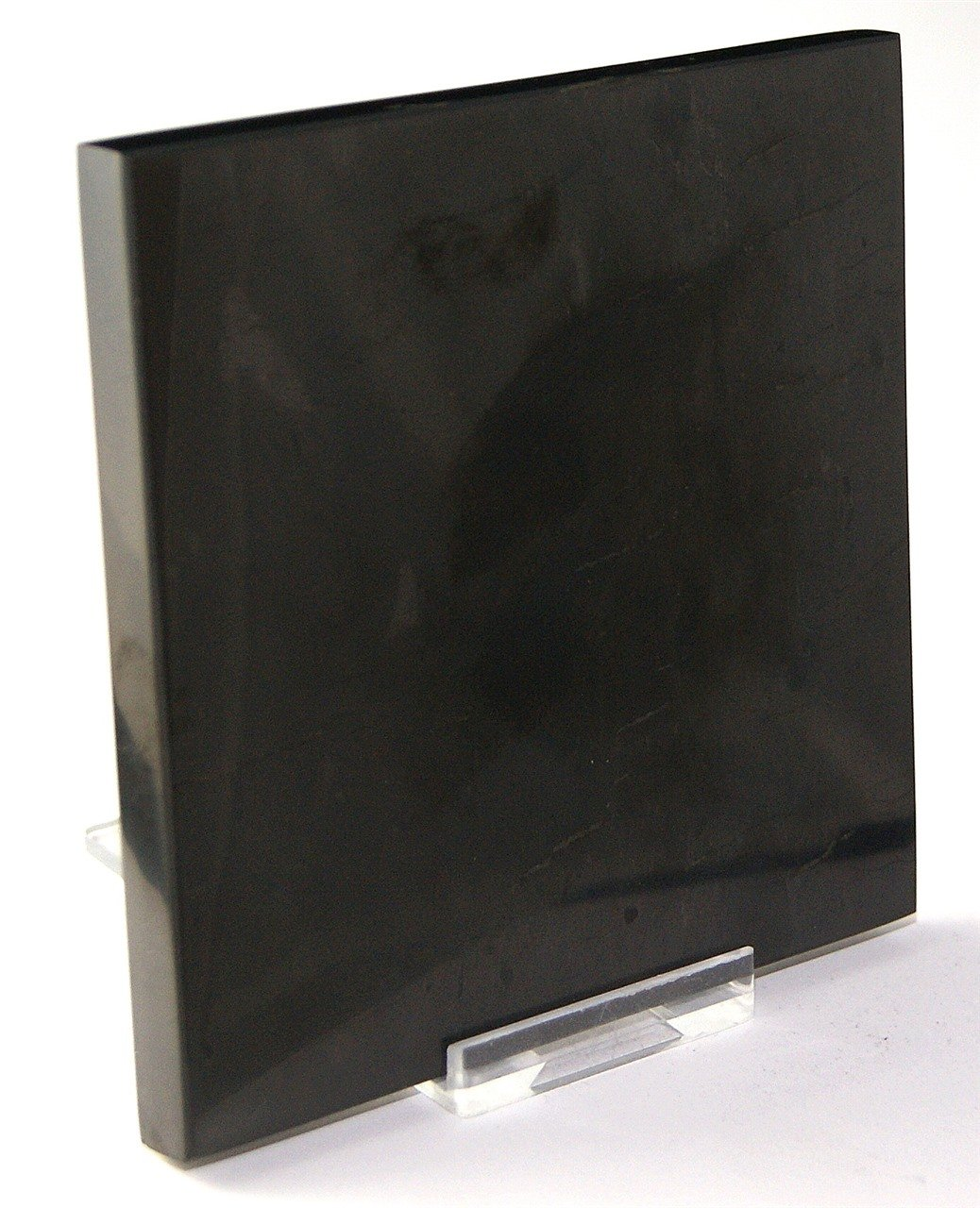 Shungite Shungit 100mm Electromagnetic Protection Plate Coaster Tile - 2 Supplied by Gifts and Guidance