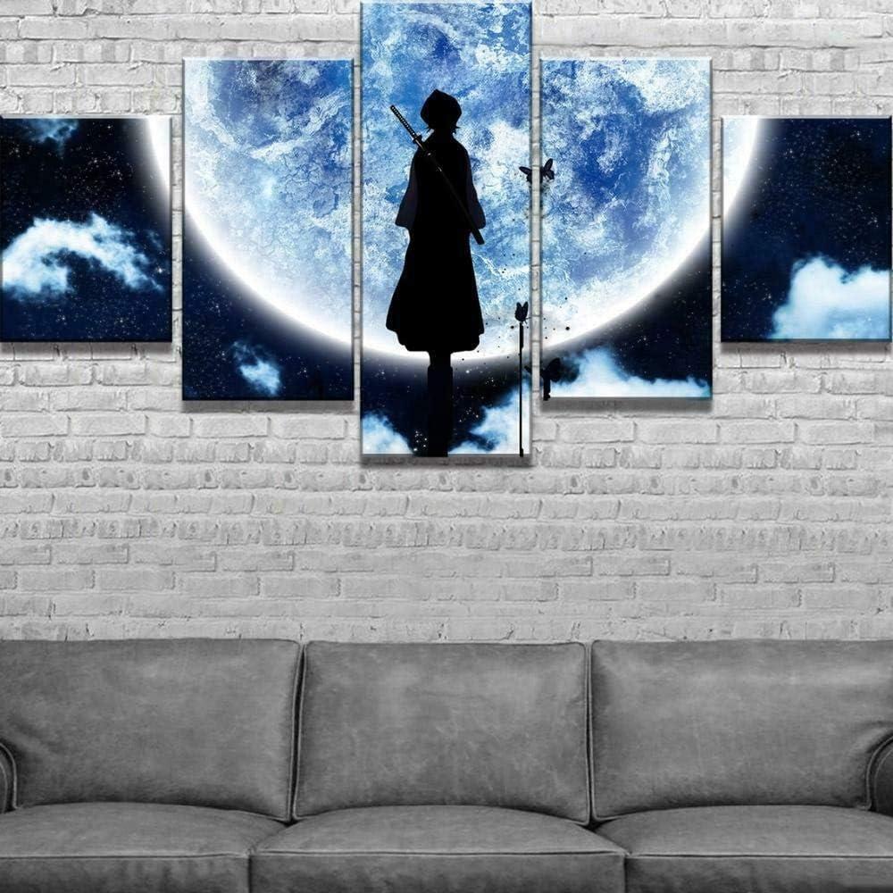 5 Piezas Lienzos Cuadros Pinturas Bleach Moon Anime Dibujos Animados Cuadros Modernos Impresi/ón Imagen Art/ística El Arte De La Pared del Hogar Sal/ón Oficina Mordern Decoraci/ón