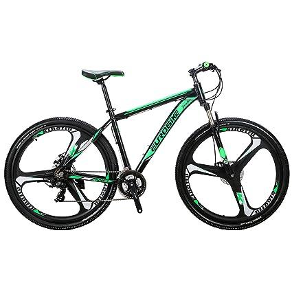 EUROBIKE Mountain Bike 21 Speed 3-Spoke 29 Inches Wheels Dual Disc Brake Aluminum Frame