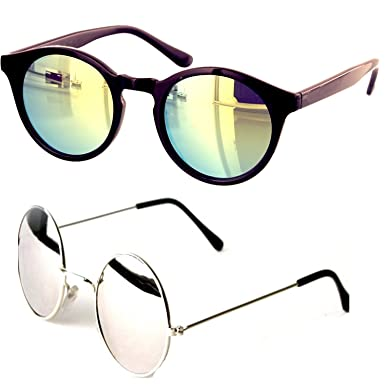 Younky Uv Protected Combo Of 3 Round Mens Womens Boys Girls Sunglasses