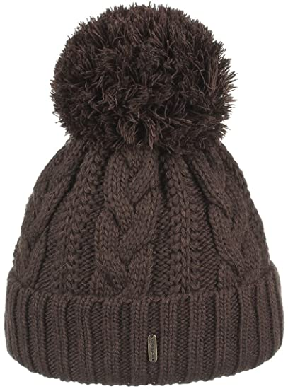 Giant Bobble Hat McBURN pompom hats winter beanie (One Size - brown ... 7f1388612