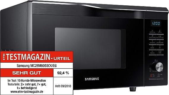 Samsung MC28M6055CK/EG Heißluft Mikrowelle / 900 W / 28 L Garraum (Extra  Groß) / 51,7 Cm Breite / HotBlast / Slim Fry: Amazon.de: Elektro Großgeräte