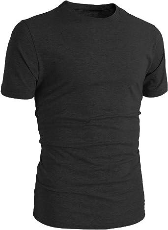 TL - Camiseta básica de Manga Corta para Hombre, Cuello Redondo, 100% algodón, Color Negro: Amazon.es: Libros