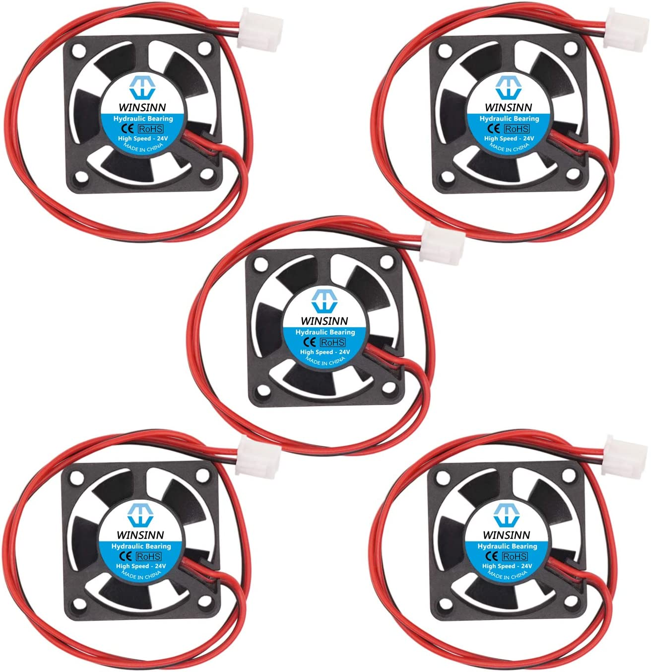 WINSINN 3010 4010 12 V 24 V DC silencioso ventilador de refrigeración 30 x 30 x 10 mm 40 x 40 x 10 mm para bricolaje 3D impresora extractor Hotend V6 V5 Makerbot MK7 MK8 CPU Arduino 3010 24V