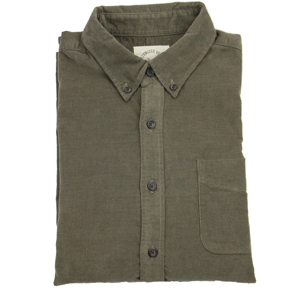 Suggested Buy Big Two Yards Asian Size Bii Free Mens Corduroy Shirt Long Sleeve Slim Fit 100/% Cotton